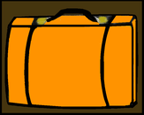 Pennies suitcase orange